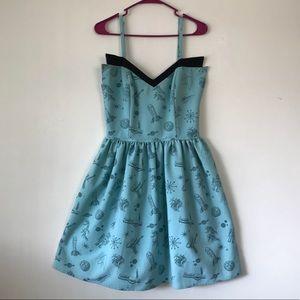 Rock Steady space print vintage style dress